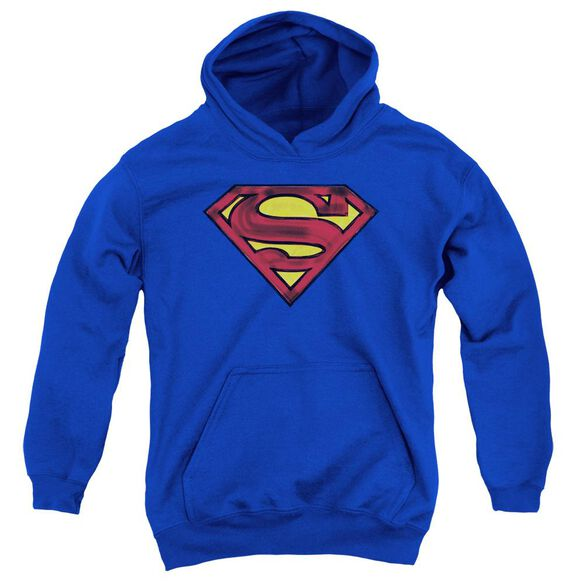 Superman Charcoal Shield Youth Pull Over Hoodie