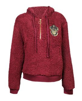 Harry Potter Expecto Patronum Half-Zip Sherpa Women's Hoodie