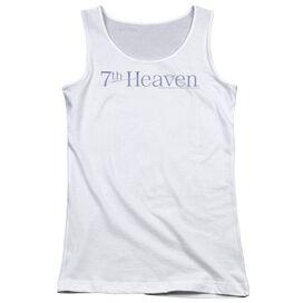 7th Heaven 7th Heaven Logo - Juniors Tank Top - White