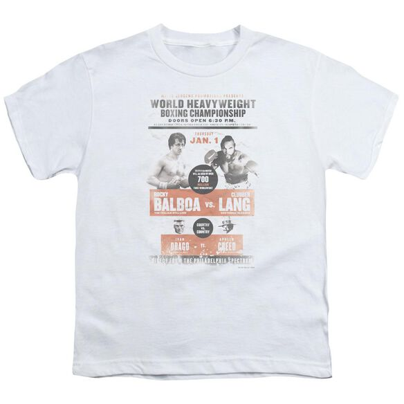 Rocky Iii Vs Clubber Poster Short Sleeve Youth T-Shirt