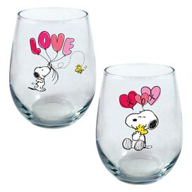 Peanuts Curved Table Glasses [2 Pack]