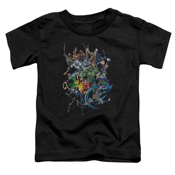 Batman Saints And Psychos Short Sleeve Toddler Tee Black Sm T-Shirt