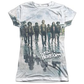 Warriors Strolling Short Sleeve Junior Poly Crew T-Shirt
