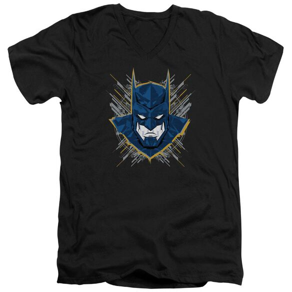 Batman Unlimited Bat Stare Short Sleeve Adult V Neck T-Shirt