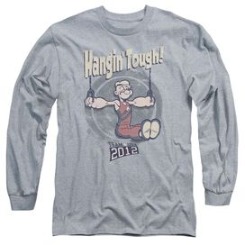 Popeye Hangin Tough Long Sleeve Adult Athletic T-Shirt