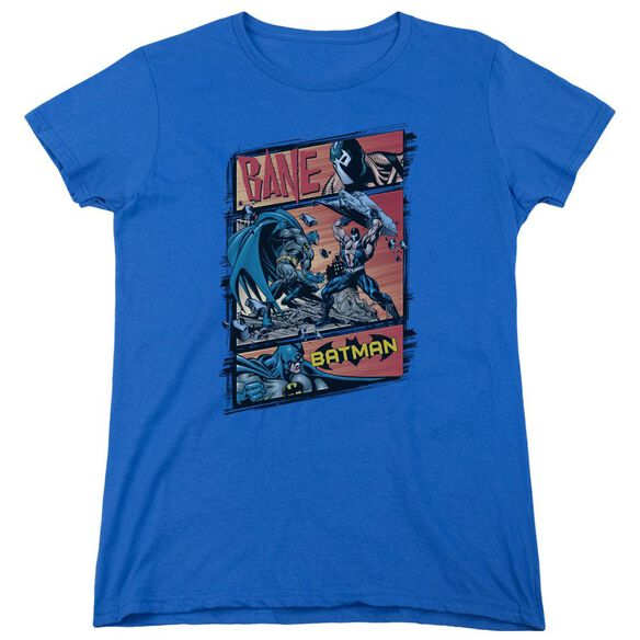 Batman Epic Battle Short Sleeve Womens Tee Royal T-Shirt