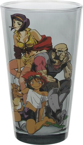 Cowboy Bebop Group and Logo Pint Glass Set