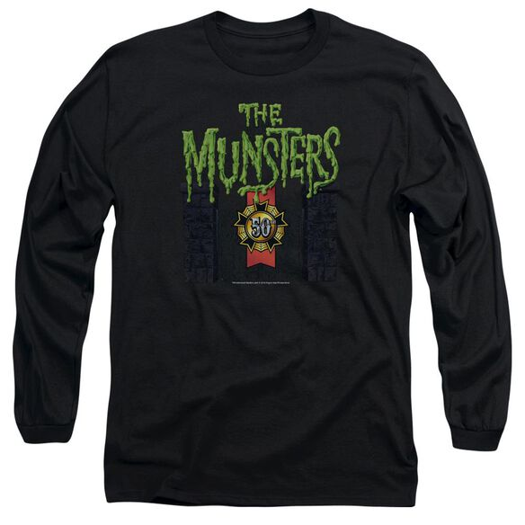 The Munsters 50 Year Logo Long Sleeve Adult T-Shirt