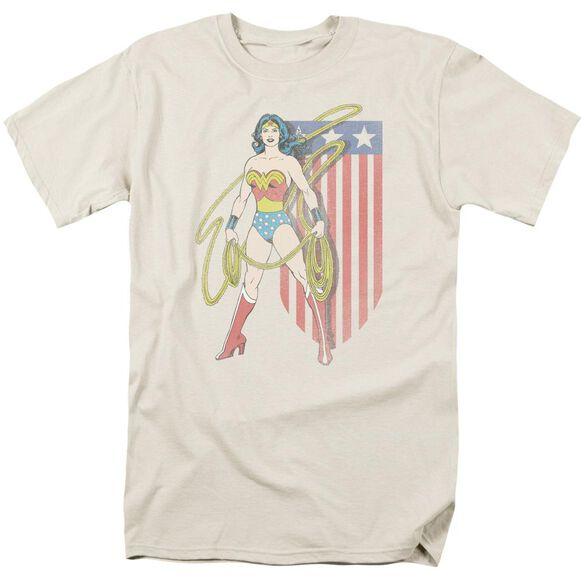 Dc Usa Banner Short Sleeve Adult Cream T-Shirt