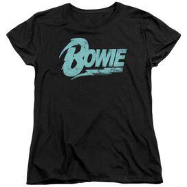 David Bowie Logo Short Sleeve Womens Tee T-Shirt
