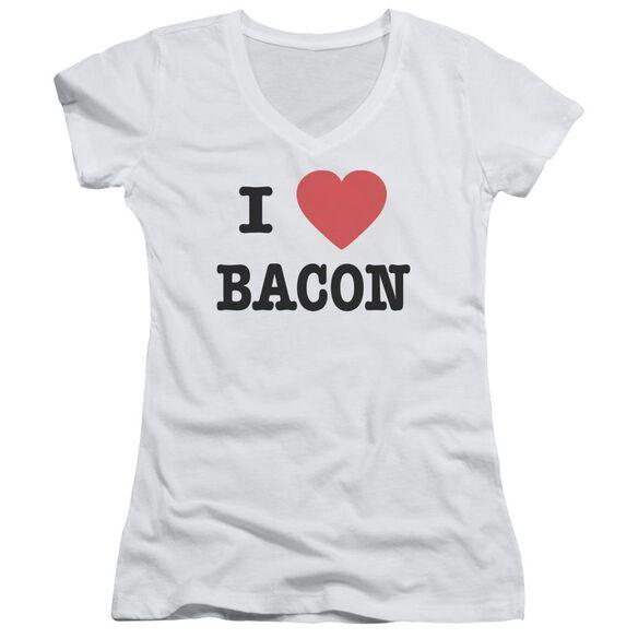 I Heart Bacon Junior V Neck T-Shirt