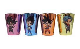 Dragon Ball Super Multicolor Metallic Finish Shot Glasses [Set of 4]