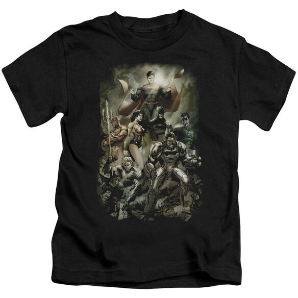 Jla Aftermath Short Sleeve Juvenile Black Md T-Shirt