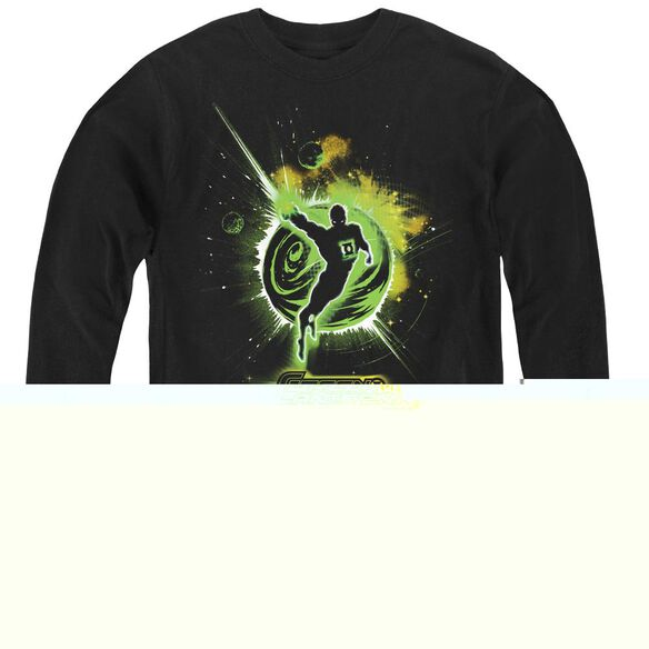 Green Lantern Shadow Lantern - Youth Long Sleeve Tee - Black