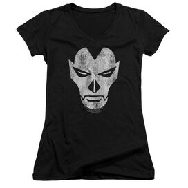 Shadowman Face Junior V Neck T-Shirt