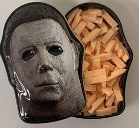 Halloween II Slasher Mask Candy Collectible Michael Myers Mask Tin - Butcher Knife Sour Orange Flavor