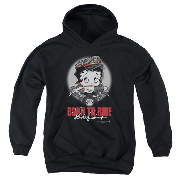 Betty Boop Born To Ride Youth Pull Over Hoodie