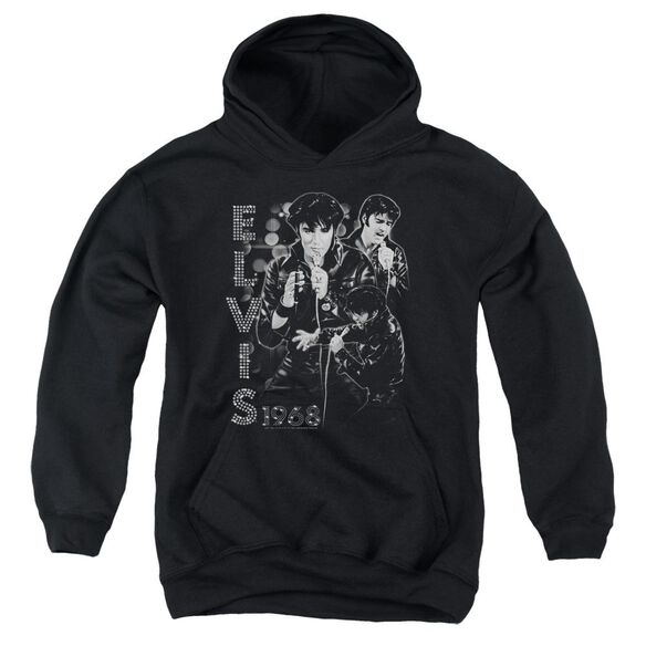 Elvis Leathered Youth Pull Over Hoodie