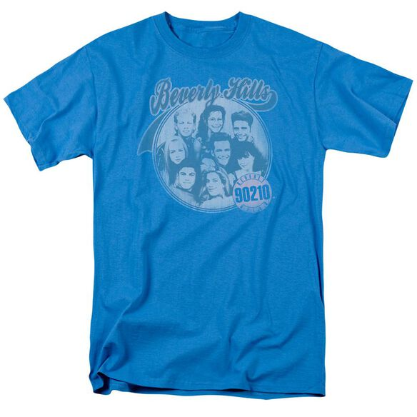 90210 Circle Of Friends Short Sleeve Adult Turquoise T-Shirt