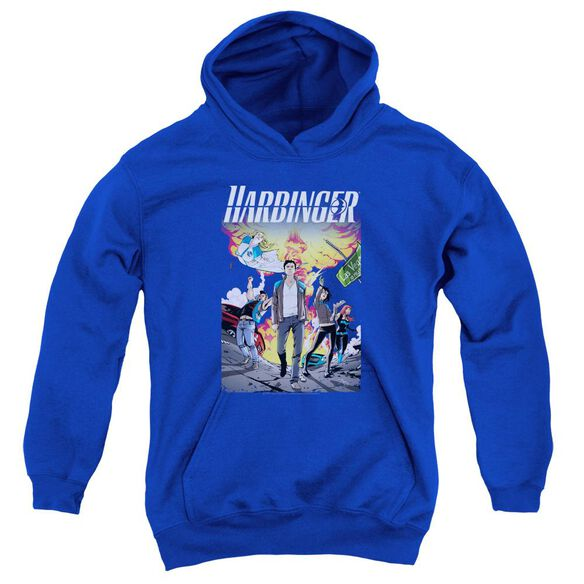 Harbinger Foot Forward Youth Pull Over Hoodie Royal