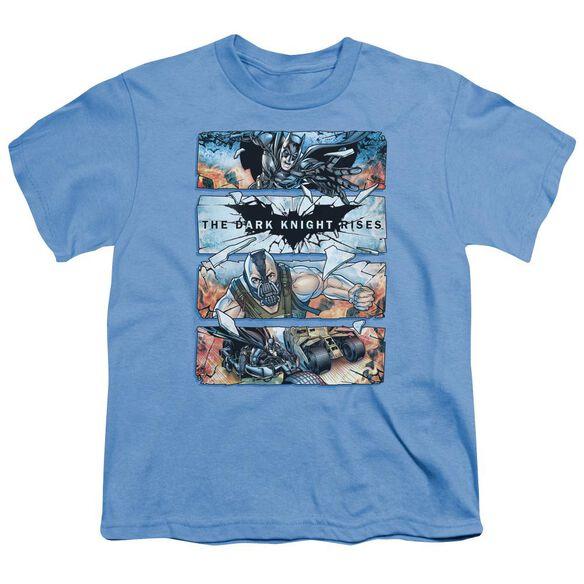 Dark Knight Rises Shattered Glass Short Sleeve Youth Carolina T-Shirt