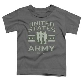 Army United States Army Short Sleeve Toddler Tee Charcoal T-Shirt