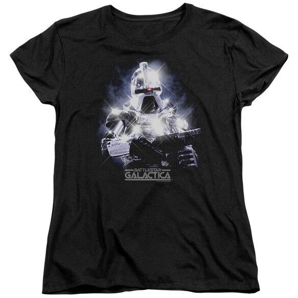 BSG 35TH ANNIVERSARY CYLON - S/S WOMENS TEE - BLACK T-Shirt