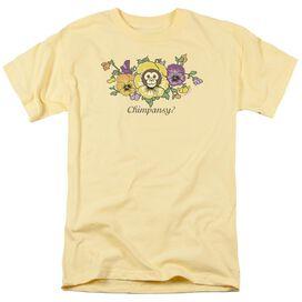 Garden Chimpansy Short Sleeve Adult Banana T-Shirt
