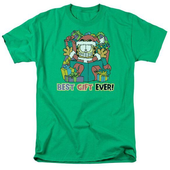 Garfield Best Gift Ever Short Sleeve Adult Kelly Green T-Shirt