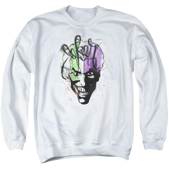 Batman Joker Airbrush Adult Crewneck Sweatshirt
