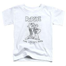 POPEYE LADIES MAN - S/S TODDLER TEE - WHITE - T-Shirt