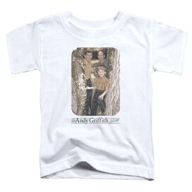 Andy Griffith Tree Photo Short Sleeve Toddler Tee White T-Shirt