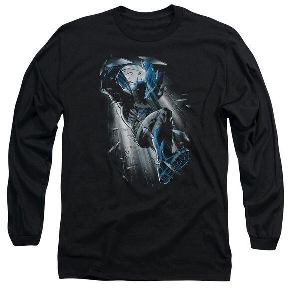 BATMAN BAT CRASH - L/S ADULT 18/1 - BLACK T-Shirt