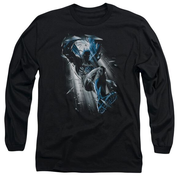 Batman Bat Crash Long Sleeve Adult T-Shirt