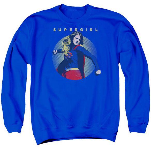 Supergirl Classic Hero Adult Crewneck Sweatshirt Royal