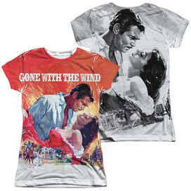 Gone With The Wind Poster (Front Back Print) Short Sleeve Junior Poly Crew T-Shirt