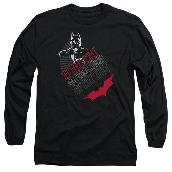 Dark Knight Stance Long Sleeve Adult T-Shirt