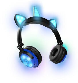 Unicorn LED Bluetooth Headphones [Blue]