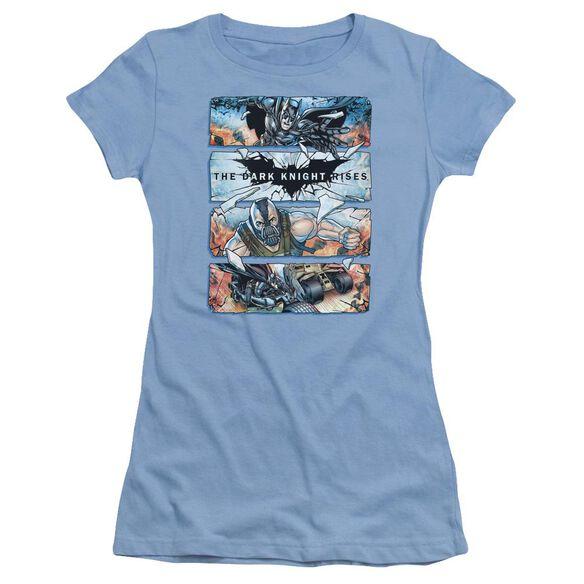 Dark Knight Rises Shattered Glass Short Sleeve Junior Sheer Carolina T-Shirt