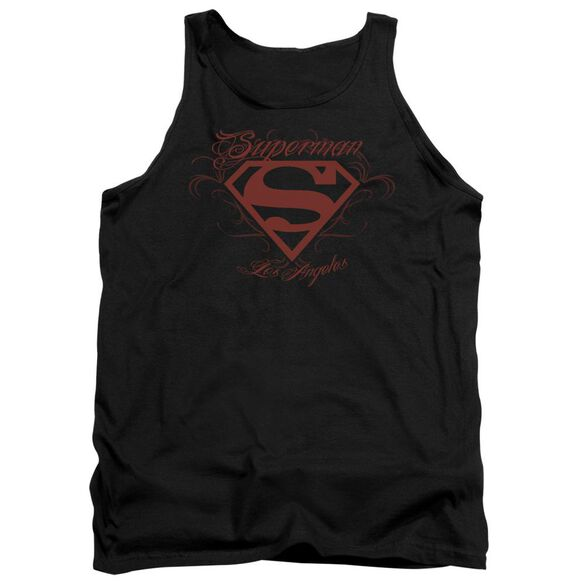 Superman La - Adult Tank - Black