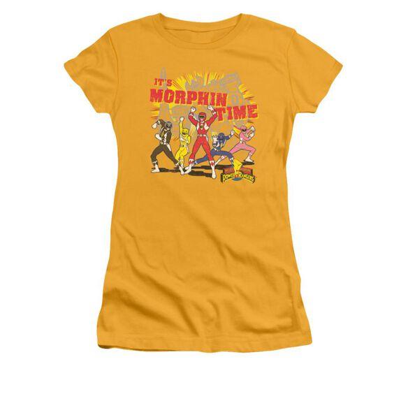 Power Rangers Morphin Time Short Sleeve Junior Sheer T-Shirt