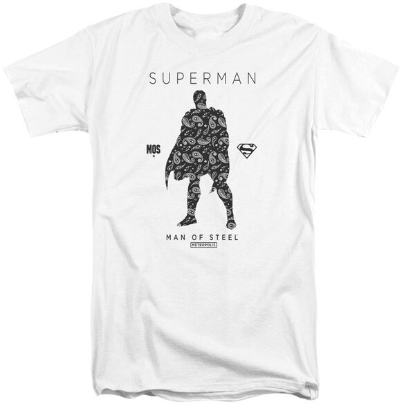 Superman Paisley Sihouette Short Sleeve Adult Tall T-Shirt