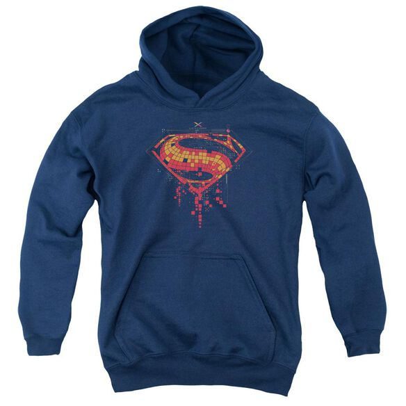 Batman V Superman Tech Super Logo Youth Pull Over Hoodie