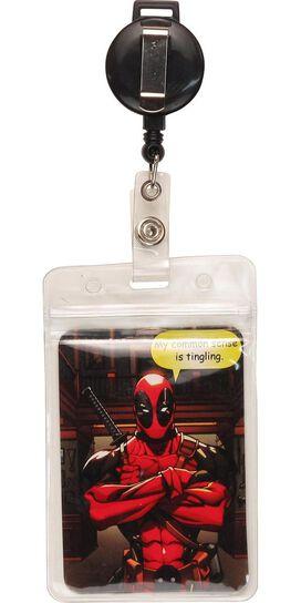 Deadpool Logo Badge Retractable Lanyard