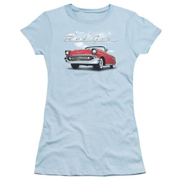 Chevrolet Bel Air Clouds Short Sleeve Junior Sheer Light T-Shirt