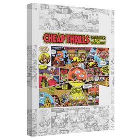 Big Brother And The Holding Company Cheap Thrills Canvas Wall Art With Back Board