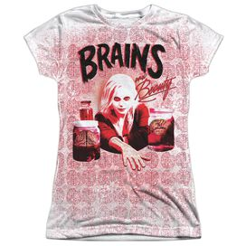 Izombie Brains Short Sleeve Junior Poly Crew T-Shirt
