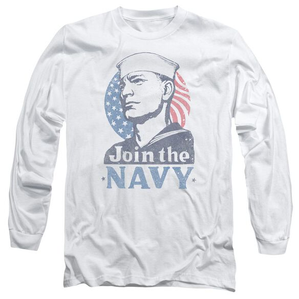 Navy Join Now Long Sleeve Adult T-Shirt