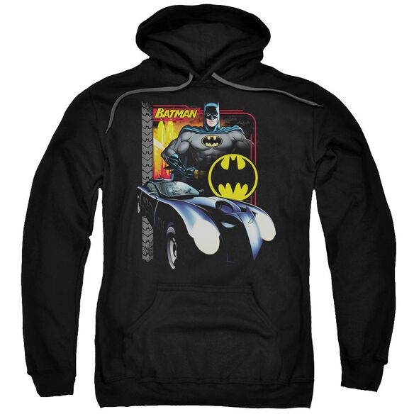Batman Bat Racing Adult Pull Over Hoodie