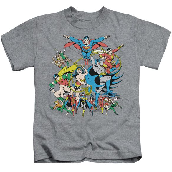 Dc Justice League Assemble Short Sleeve Juvenile Athletic Heather Md T-Shirt